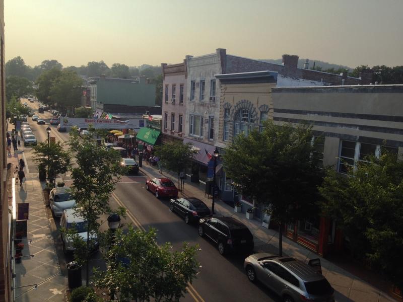 aerial view of nyack community