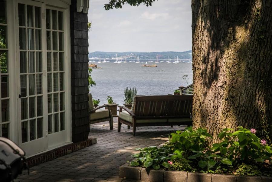 Nyack NY beachfront house view